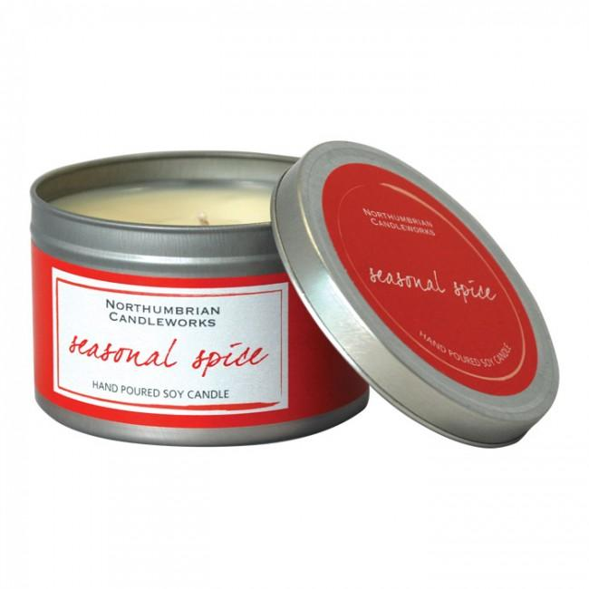 Seasonal Spice Hand-Made Soy Wax Candle Tin