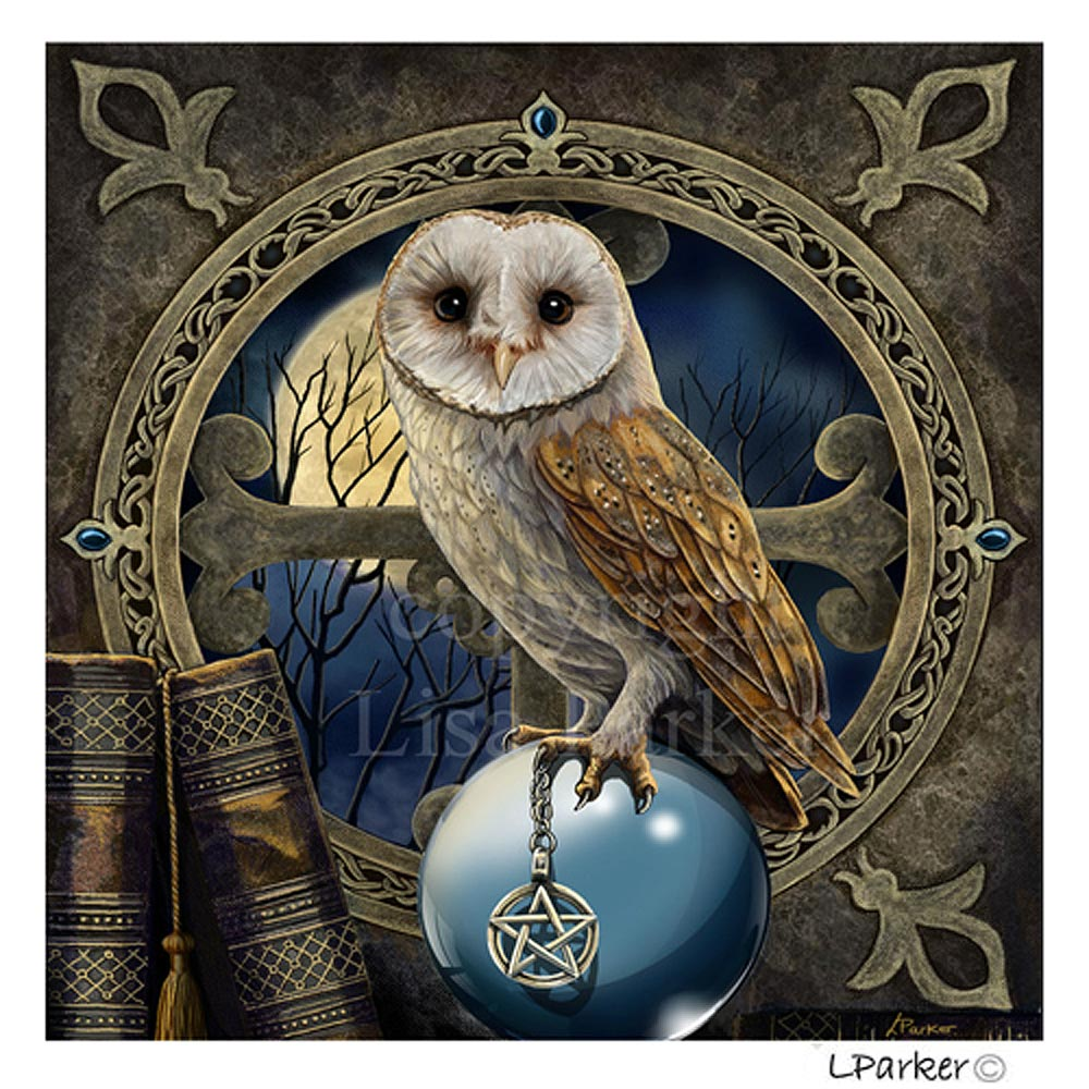 The Spell Keeper Blank Greetings Card by Lisa Parker