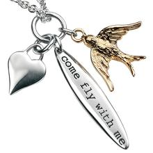 Sterling Silver & Gold Come Fly With Me Pendant