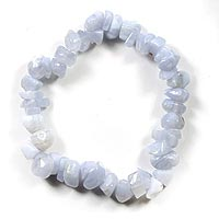 Blue Lace Agate Crystal Power Chip Bracelet