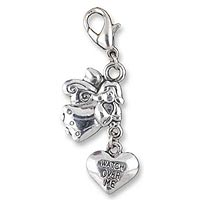 Guardian Angel Watch Over Me Clip-on Charm