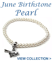 Take a look at our Pearl jewellery - the birthstone for June, signifying faith, loyalty and wisdom