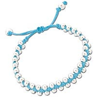 Turquoise Friendship Bracelet with Sterling Silver Beads (27% OFF)