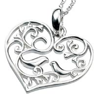 Sterling Silver Lovebirds Pendant