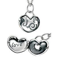 Sterling Silver Love Heart Locket Pendant (30% OFF)