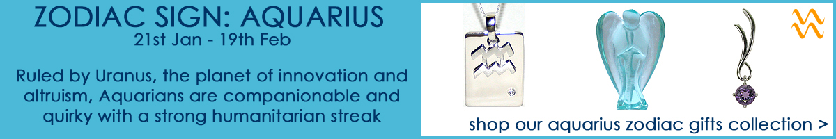 Shop our Aquarius Zodiac Sign Jewellery & Gifts Collection
