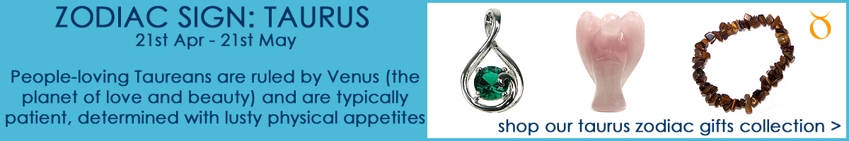 Shop our Taurus Zodiac Sign Jewellery & Gifts Collection