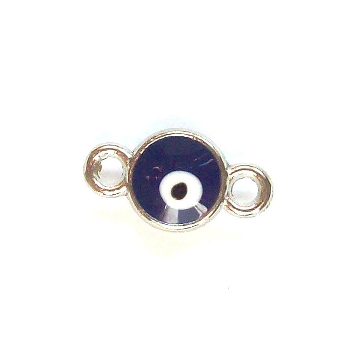 Tibetan Silver Evil Eye Connector Charm x10