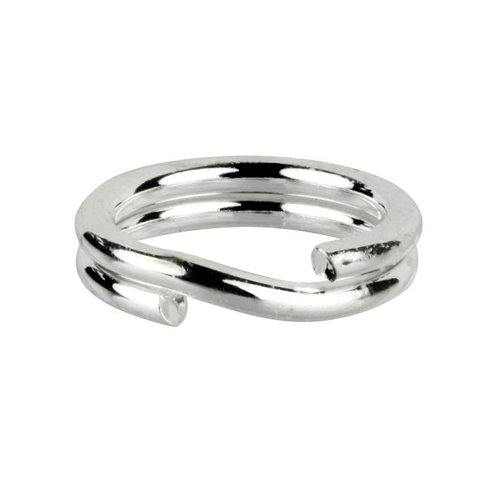 Silver Plated Split Ring x12